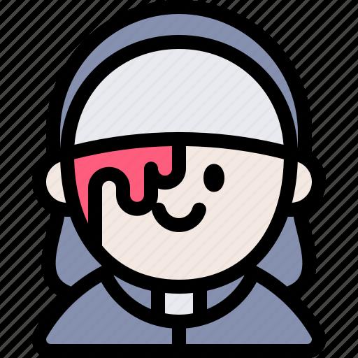 avatar, costume, halloween, nun, october icon