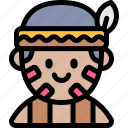 avatar, costume, halloween, indian, october icon