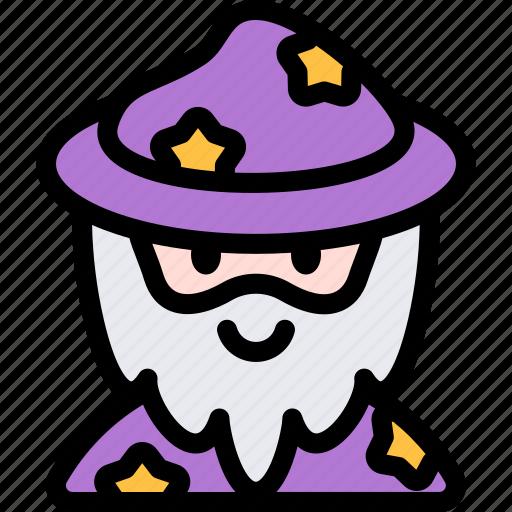avatar, costume, halloween, october, wizzard icon