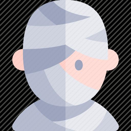avatar, costume, halloween, mummy, october icon
