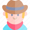 avatar, costume, cowboy, halloween, october icon