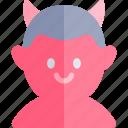 avatar, boy, costume, devil, halloween, october icon