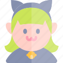 avatar, cat, costume, girl, halloween, october icon