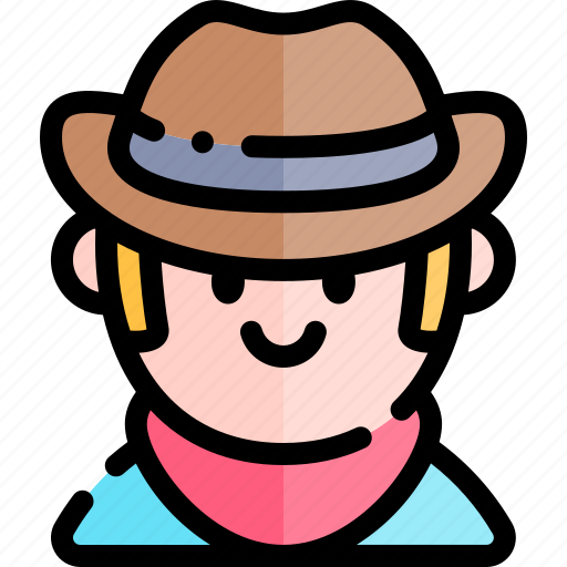 avatar, costume, cowboy, halloween, october icon