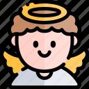 angel, avatar, costume, halloween, october icon