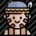 avatar, costume, halloween, indian, october icon