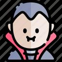 avatar, costume, dracula, halloween, october icon