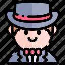 avatar, costume, halloween, magician, october icon