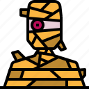 avatar, halloween, horror, mummy, scary icon