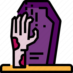 avatar, grave, halloween, hand, monster, scary, zombie icon