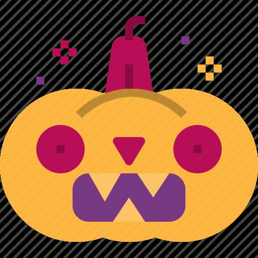 halloween, horror, ornament, pumpkin, scary icon