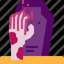 avatar, grave, halloween, hand, horror, monster, zombie icon