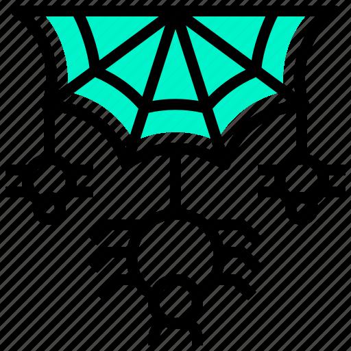 animal, cobweb, halloween, spider, web icon