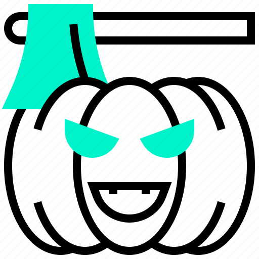 death, devil, halloween, pumpkin, zombie icon
