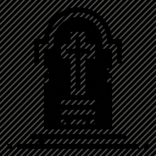 death, devil, gravestone, halloween icon