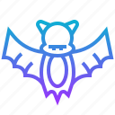 animal, bat, death, halloween icon