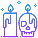 bone, candle, death, devil, halloween icon