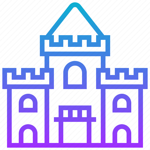 abandoned, architecture, building, castle, landmark icon