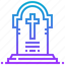death, devil, gravestone, halloween icon