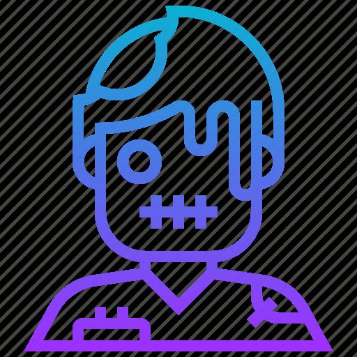 death, devil, halloween, monster, zombie icon