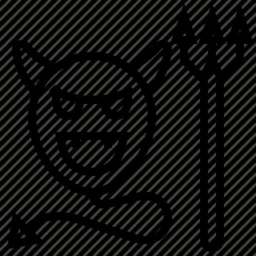 bubble, death, devil, evil, halloween icon