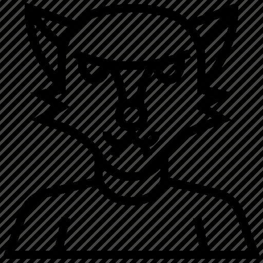 death, devil, halloween, monster, were, wolf icon