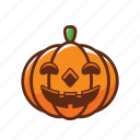 fun, halloween, pumpkin, scary, smile, spooky, vegetable icon