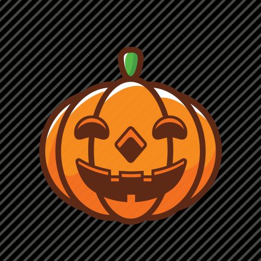 fun, halloween, pumpkin, scary, smile, spooky, vegetable icon