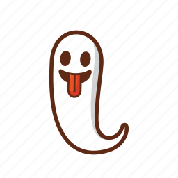 fly, fun, ghost, halloween, scary, white icon