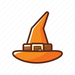 belt, halloween, hat, orange, scary, spooky, witch icon