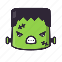 angry, frankenstein, halloween, monster icon