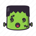 dizzy, frankenstein, halloween, monster icon