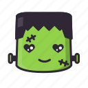 frankenstein, halloween, love, monster icon