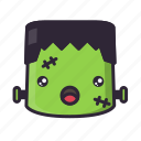 frankenstein, halloween, kawaii, monster, surprised icon
