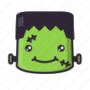 frankenstein, halloween, smile, terror icon