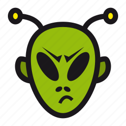 alien, halloween, space, ufo, visitor icon