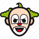 buffoon, clown, halloween, jester, joker icon