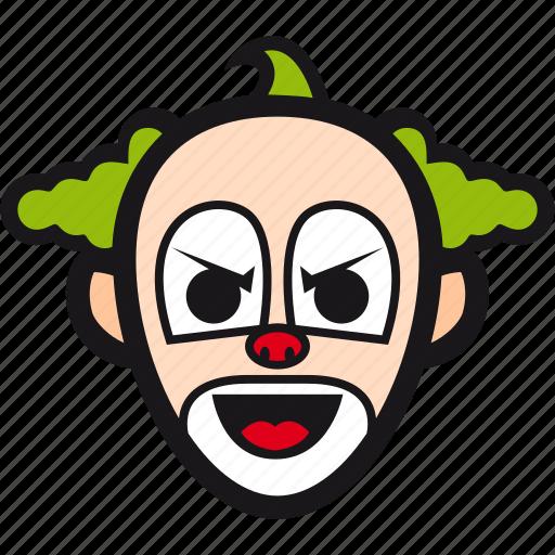 buffoon, clown, halloween, jester, joker icon