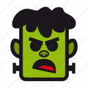 angry, frankestein, franky, halloween, monster icon