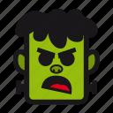 angry, frankestein, franky, halloween, monster