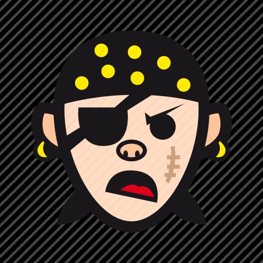 bad, corsair, grumpy, halloween, pirate icon