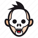 halloween, mask, skeleton, skull, undead icon