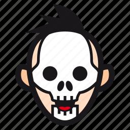 halloween, mask, skeleton, skull, undead icon