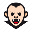 dracula, halloween, monster, undead, vampire icon