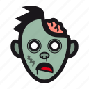 brain, halloween, monster, undead, zombie icon