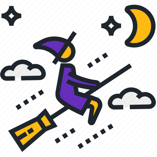 broom, broomstick, halloween, halloween broom, spooky, witch broom, witch riding icon