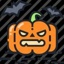 halloween, horror, pumpkin, scary, evil, spooky icon
