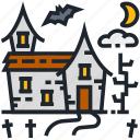 graveyard, halloween, horror, witch house, witchcraft, grave, spooky icon