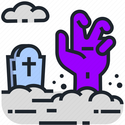 crypt, gravestone, halloween, headstone, rip, tombstone, zombie icon