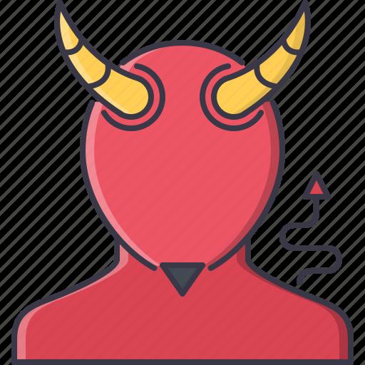 daemon, devil, fantasy, halloween, horn, legend, story icon